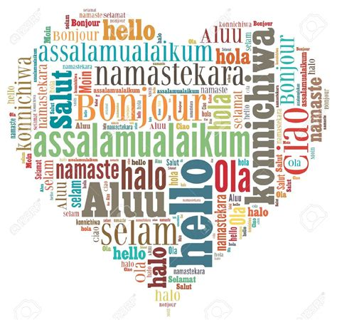 language de hello in different languages clipart 12