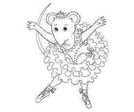 free coloring pages of angelina the ballerina