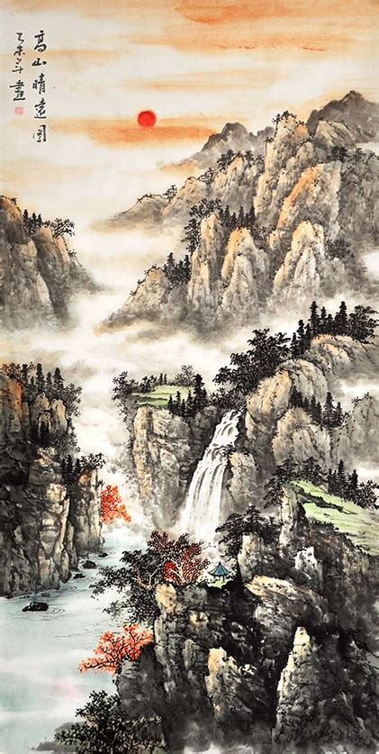 chinese scroll painting nature art  sale scenery
