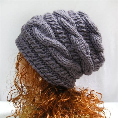knitted slouchy hat patterns pattern slouchy gifts shop