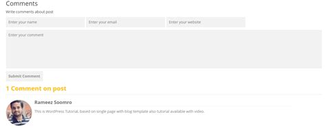 comment section in html convert psd to html css for wordpress theme