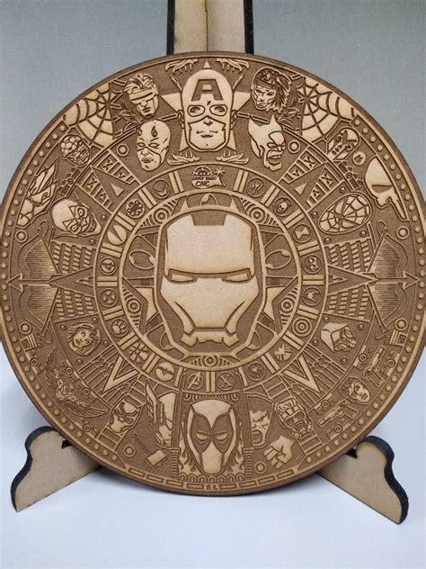 laser cut engraved marvel mayan calendar  vector cdr