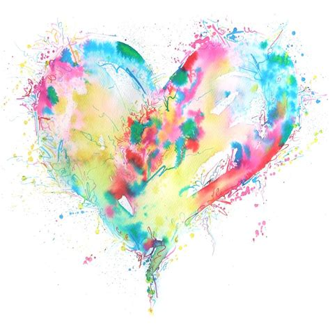 watercolor tattoo heart abstract watercolor a r t