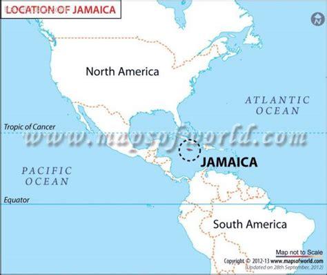 map usa and jamaica jamaica map travelquaz
