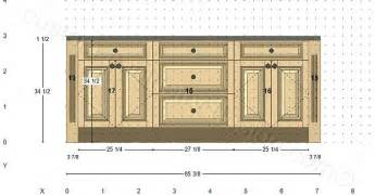 Kitchen island or wall 6 elevation there are two base cabinets and