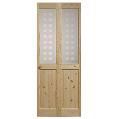 Interior Glazed Bi Fold Doors Canterbury Geo Knotty Pine 2 Lite Bifold Interior Door Next Day Delivery Canterbury Geo Knotty
