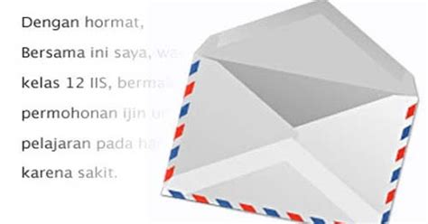 contoh surat ijin tidak masuk kuliah arie pinoci