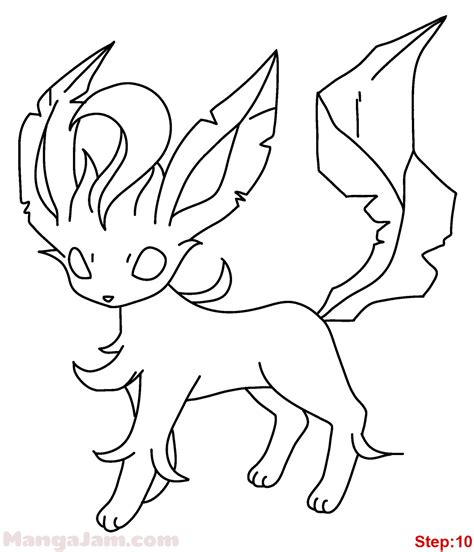 pokemon coloring pages glaceon how to draw leafeon from pokemon mangajam com