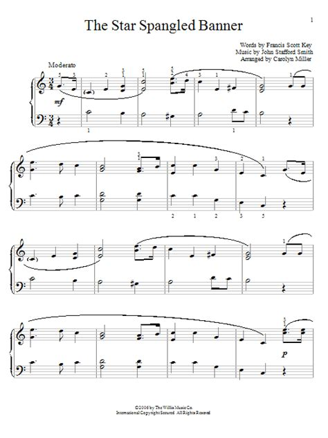the star spangled banner sheet music direct