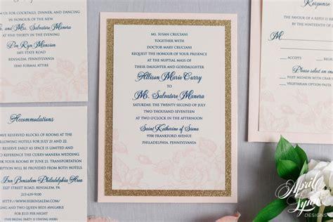 Allison   Sal?s Floral Blush   Gold Glitter Wedding