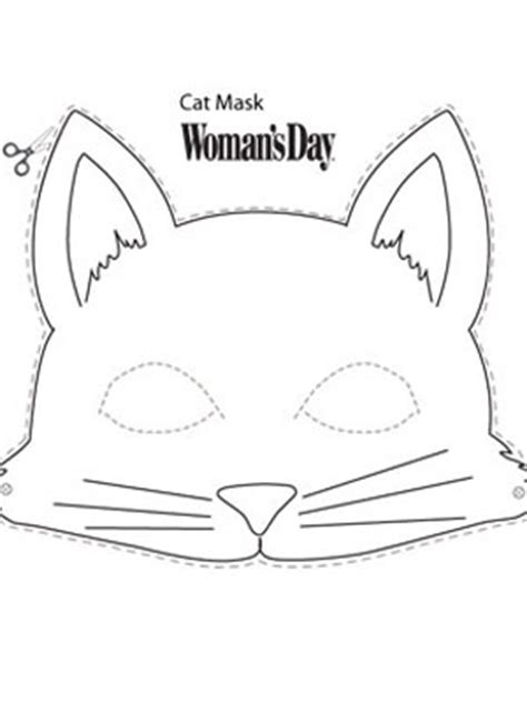 halloween crafts printable cat face mask at womansday com