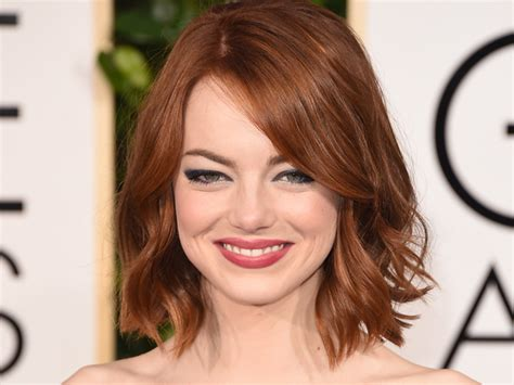 lob hair 2015 lob hair with bangs emma stone hairstylegalleries com