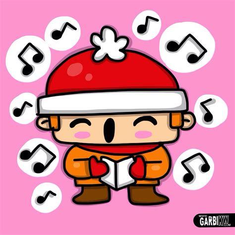imagenes de dibujos de navidad kawaii c 243 mo dibujar un ni 241 o cantando villancicos dibujos