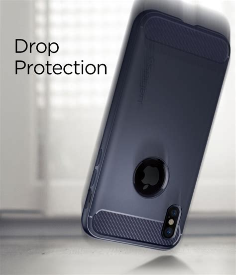 Spigen Rugged Armor Iphone X Blue spigen rugged armor skal till apple iphone x bl 229