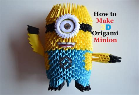 How To Make Paper Minions - 3 d origami minion simple craft ideas