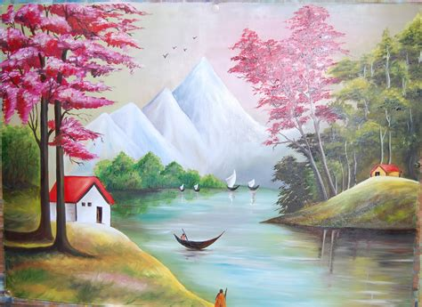 acrylic painting scenery easy paintings of scenery how to painting a beautiful