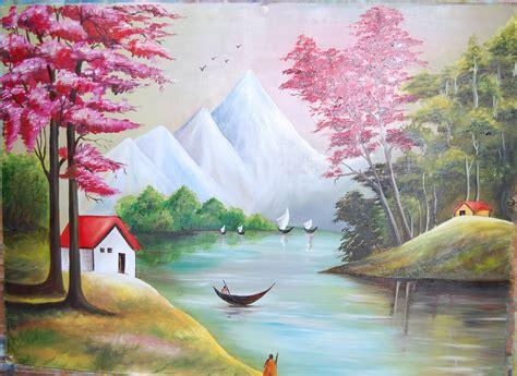 acrylic painting scenery easy landscape acrylic paintings www pixshark