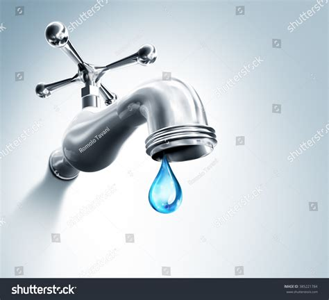 rubinetto water leaking faucet droplet water stock illustration 385221784