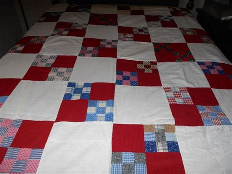 Vintage Quilt Top by Antique Vintage Stitched Quilt Top And Blue Ebay