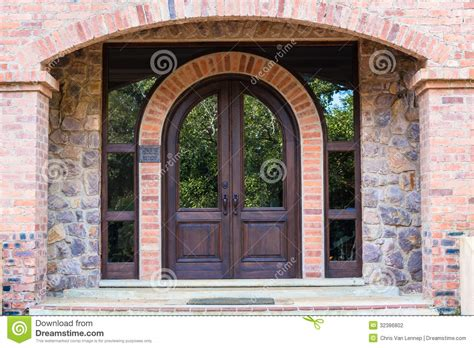 front door home arch wood stock photography image