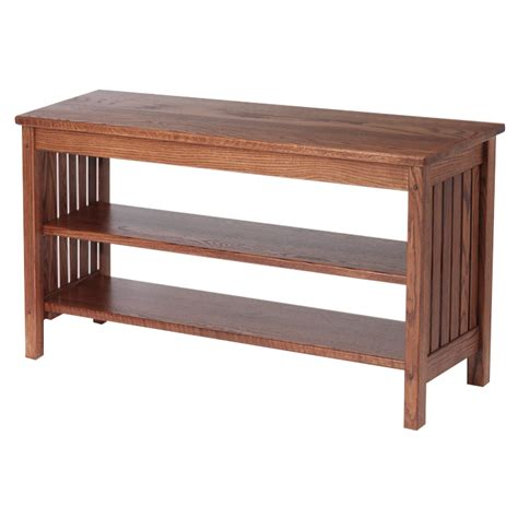 Unfinished Oak Furniture by Mission Style Solid Oak Tv Stand 41 Quot The Oak Furniture