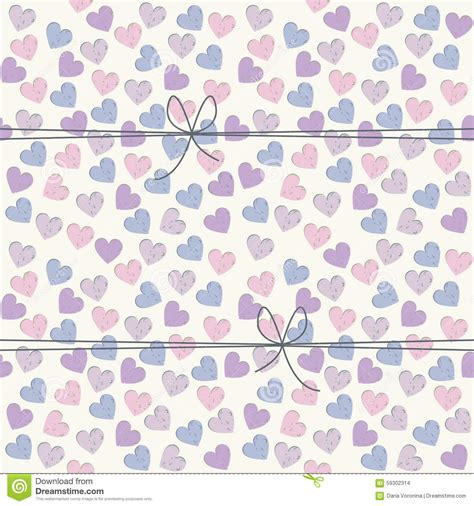seamless pattern template seamless pattern with hearts and cute bows