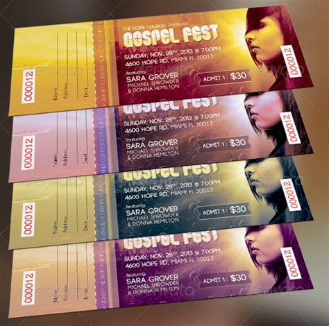 26 Ticket Templates Psd Ai Word Free Premium Templates Concert Ticket Design Template Free