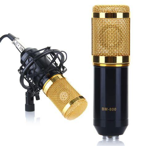 New Paket Karaoke Mikrofon Recording Studio Mic Bm 800 professional condenser microphone mic studio sound recording with shock mount ebay