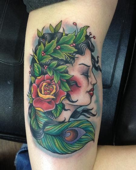 mother nature tattoo depiction gallery tattoos color nature