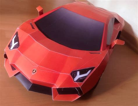 lamborghini aventador diy papercraft model built by alvin