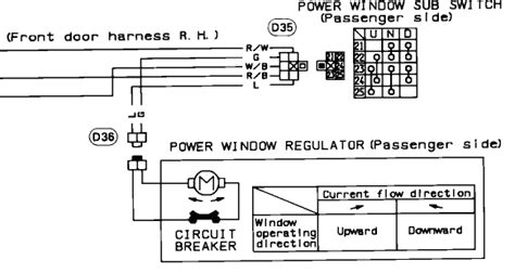 power window switch wiring diagram manual circuit and
