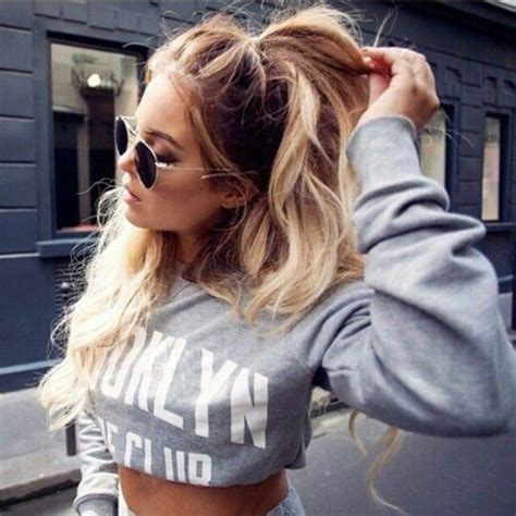 how to do half ponytail hairstyles 1000 ideas about messy ponytail hairstyles on pinterest