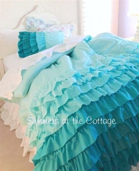 comforter shabby cottage and aqua on pinterest