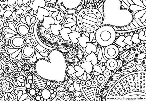 coloring pages for adults abstract pdf valentin day coloring pages printable