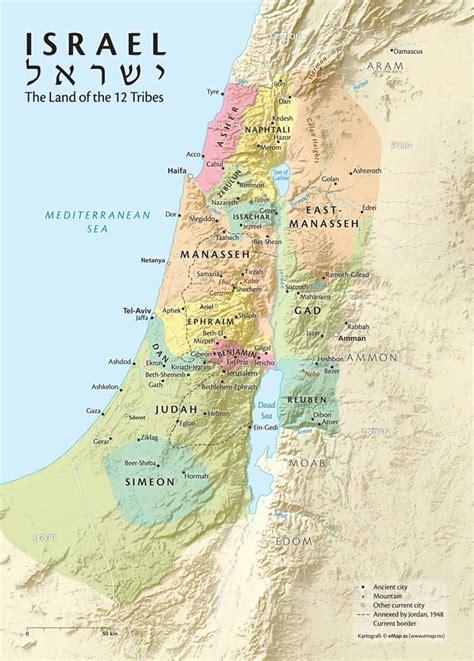 biblical map of israel biblical tribal map of israel