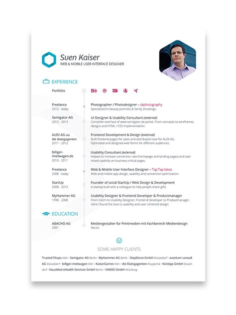 10 cool resumes made by professional graphic designers software elearning center