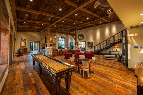 Small Mountain Cabin Floor Plans innovative shuffleboard table in family room rustic with
