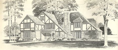 tudor house floor plans vintage house plans tudor antique alter ego