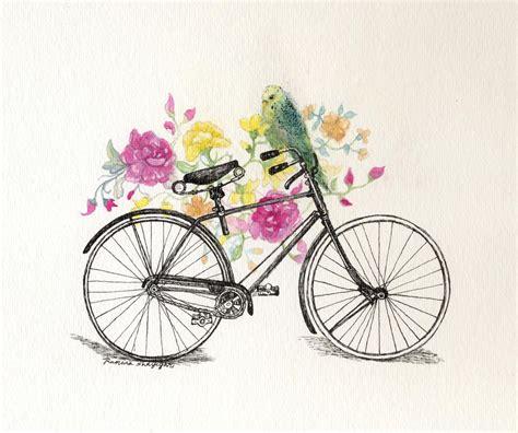 bike painting vintage bicycle painting