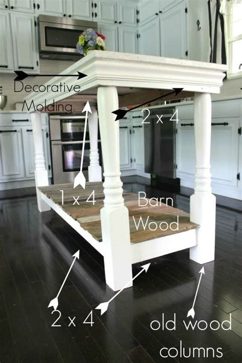 how to build a simple kitchen island diy kitchen island with salvaged wood