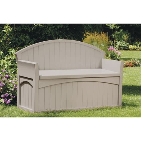bench w storage suncast patio bench w storage