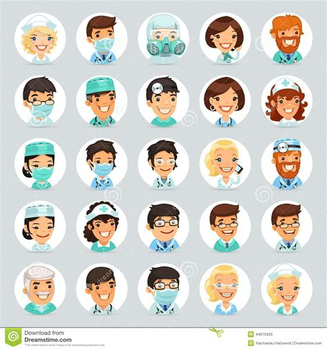 imagenes animadas de doctores iconos set2 de los doctores personajes de dibujos animados
