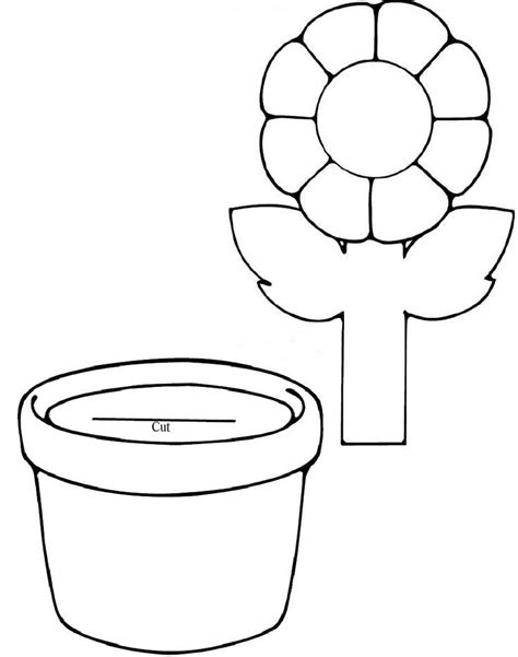 flower template for preschool az coloring pages