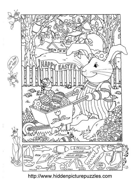 coloring pages hidden pictures hidden pictures publishing easter hidden picture puzzle