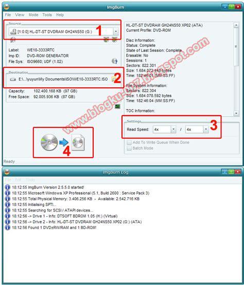 membuat file iso ukuran besar cara mudah membuat file iso menggunakan imgburn 2 5 5 0