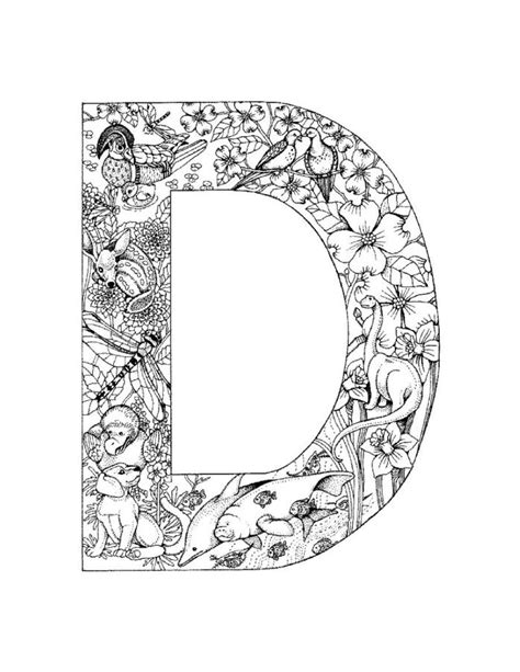 Alphabet D Coloring Pages by Who Think Alphabet Coloring Pages