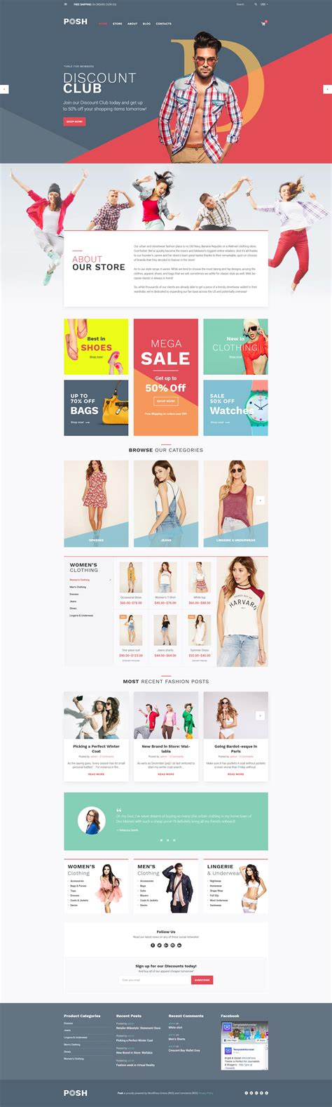 woocommerce themes clothing apparel responsive woocommerce theme