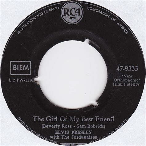 elvis presley the girl of my best friend vinyl shop elvis presley with the jordanaires the