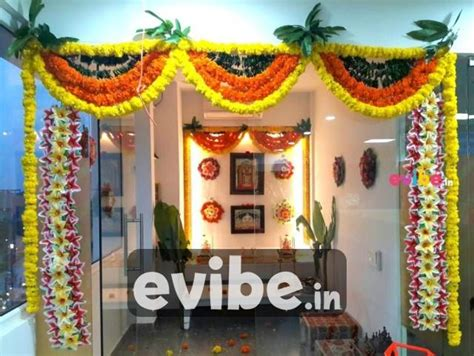 house decoration ideas for housewarming ceremony traditional floral entrance decoration for showroom for