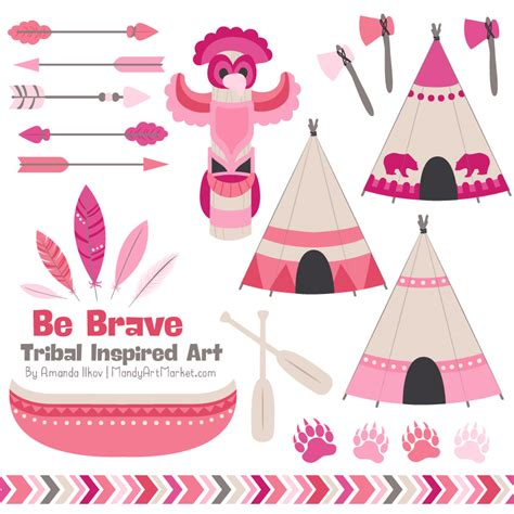 Pink Tribal pink tribal clipart